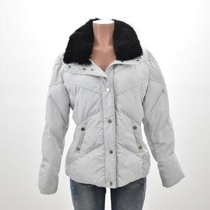 Calvin Klein Womans Puffer Down Jacket Gray XL